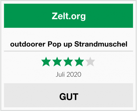 outdoorer Pop up Strandmuschel Test
