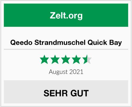 Qeedo Strandmuschel Quick Bay Test