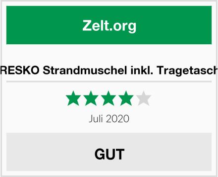 TRESKO Strandmuschel inkl. Tragetasche Test