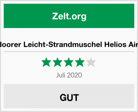 outdoorer Leicht-Strandmuschel Helios Air 850 Test