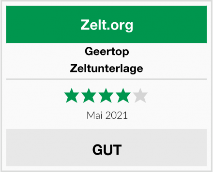Geertop Zeltunterlage Test