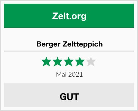 Berger Zeltteppich Test