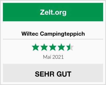 Wiltec Campingteppich Test