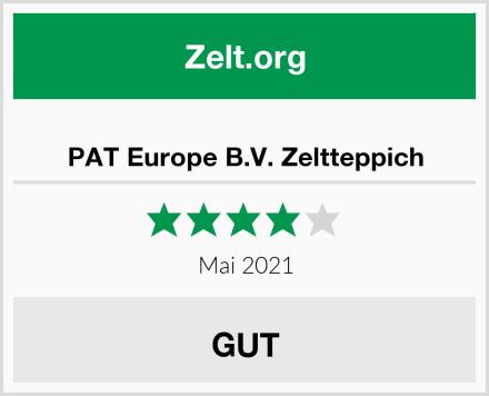 PAT Europe B.V. Zeltteppich Test