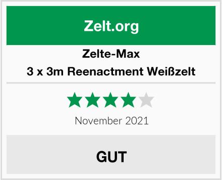 Zelte-Max 3 x 3m Reenactment Weißzelt Test