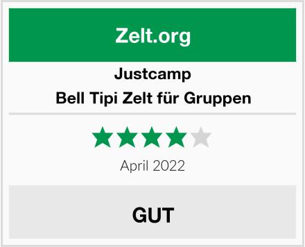 Justcamp Bell Tipi Zelt für Gruppen Test