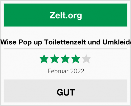 WolfWise Pop up Toilettenzelt und Umkleidezelt Test