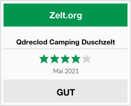 Qdreclod Camping Duschzelt Test