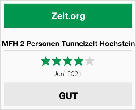 MFH 2 Personen Tunnelzelt Hochstein Test
