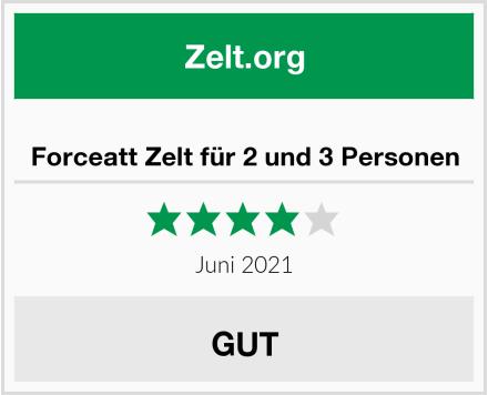 Forceatt Zelt für 2 und 3 Personen Test