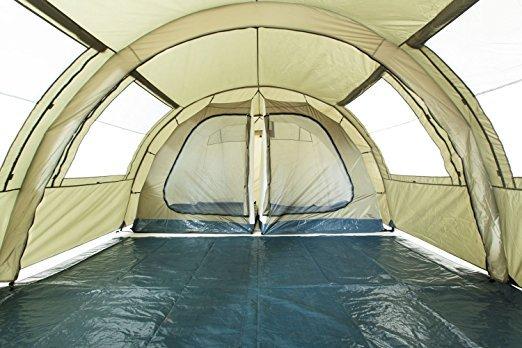 Zelt Mit 2 Schlafkabinen : Campfeuer tunnelzelt mit schlafkabinen zelt test