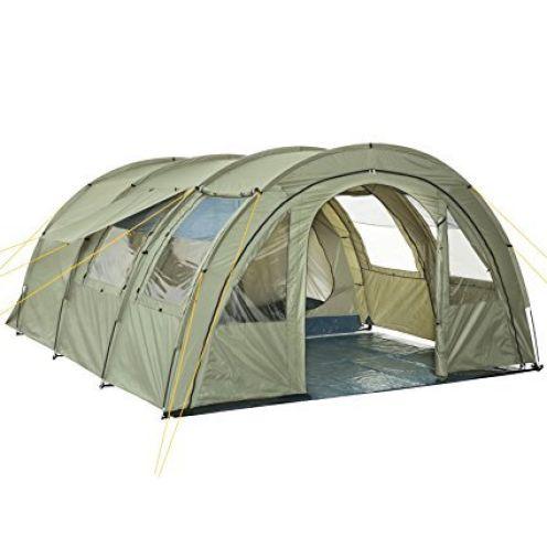 CampFeuer Tunnelzelt mit 2 Schlafkabinen