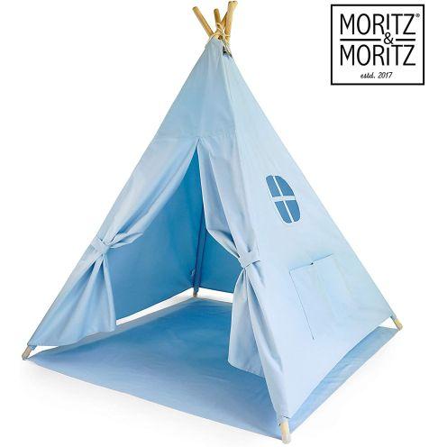 Moritz & Moritz Tipi Zelt für Kinder - Blau Einfarbig
