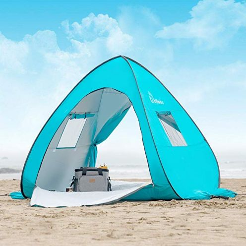 WolfWise UV-Schutz 50+ Pop up Strandmuschel Extra Light