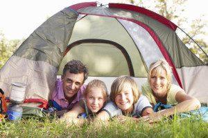 Reinigung von Zelten