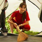Reinigung und Pflege von Zelten